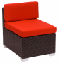 BFM Aruba Outdoor Wicker Armless Middle Section Sofa