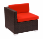 BFM Aruba Outdoor Wicker Left Arm Corner Sofa
