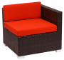 BFM Aruba Outdoor Wicker Right Arm Corner Sofa