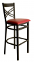 BFM Akrin Cross Back Indoor Restaurant Metal Barstool