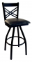 BFM Akrin Cross Back Indoor Restaurant Metal Swivel Barstool