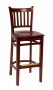 BFM Delran Commercial Slat Back Wood Barstool
