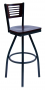 BFM Espy Slotted Wood Back Restaurant Swivel Barstool