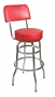 BFM Galena Indoor Restaurant Double Ring Chrome Barstool w/Back