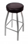 BFM Kyle Swivel Backless Metal Barstool - Silver