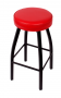 BFM Kyle Swivel Backless Metal Barstool - Sand Black