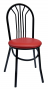 BFM Loretto Metal Cafe Bistro Chair - Vinyl Seat