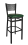 BFM Polk Perforated Back Metal Restaurant Barstool