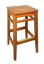 BFM Trevor Backless Beechwood Restaurant Barstool-Honey Oak