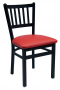 BFM Troy Slat Back Indoor Restaurant Metal Chair