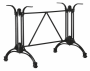 BFM Boca Trestle Aluminum Table Base Black Powder Coat