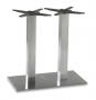BFM Elite Base Stainless Steel Double Square Dining Height
