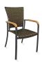 FS-AL-5605 Armchair Black frame/ wicker