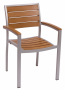 BFM Largo Armchair Silver Aluminum frame & Synthetic Teak