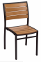 BFM Largo Side Chair Black Aluminum frame & Synthetic Teak