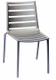 BFM South Beach Aluminum Side Chair Titanium Silver