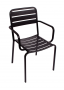 BFM Vista Stacking Aluminum Arm Chair Black