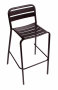 BFM Vista Stacking Aluminum Barstool Black