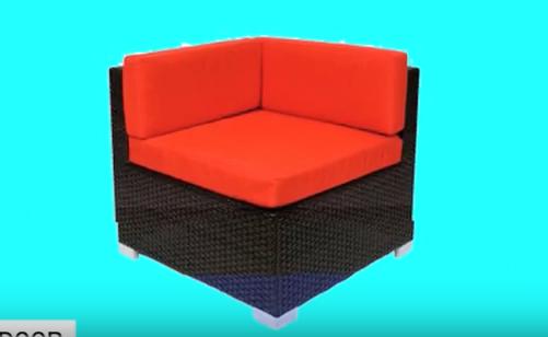 Synthetic Wicker Sofa BFM Aruba Outdoor Seating