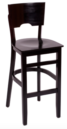 Trevor Wood Barstool with Solid Back Seat